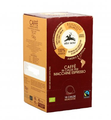 Caffe' 100% Arabica Bio - Espresso Fairtrade 18 Cialde - 125 Grammi