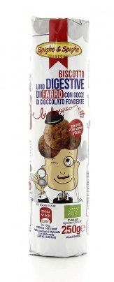 Digestive di Farro con Gocce di Cioccolato