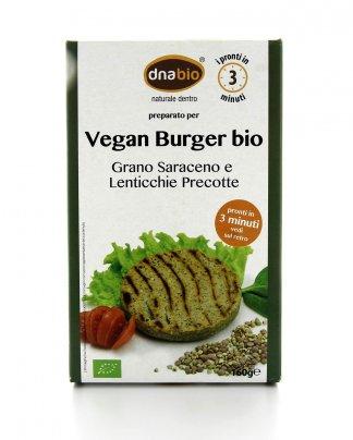 Vegan Burger Bio - Grano Saraceno, Lenticchie e Mix di Semi