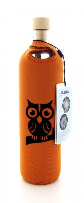 Bottiglia Vetro Programmato Flaska - Neo Design Owl on The Branch 0,5 L
