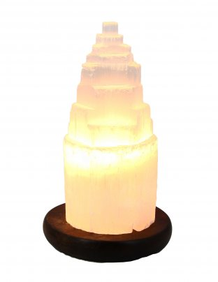 Lampada in Selenite Iceberg