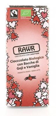 Cioccolata Rawr Passion - Cioccolato con Bacche di Goji e Vaniglia