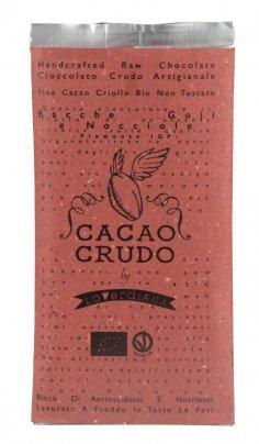 Tavoletta di Cioccolato Crudo alle Bacche di Goji e Nocciole
