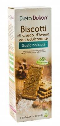 Biscotti di Crusca d'Avena con Edulcorante - Gusto Nocciola