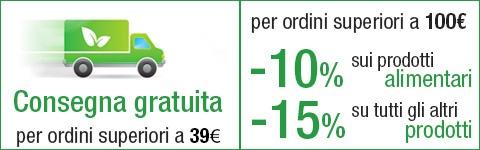 Spese gratuite e sconto ordini 100 euro