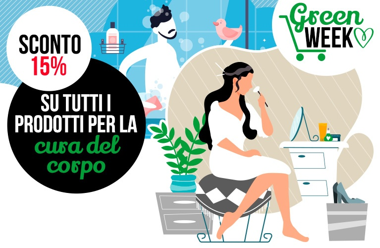 green week sconto 15% cura del corpo