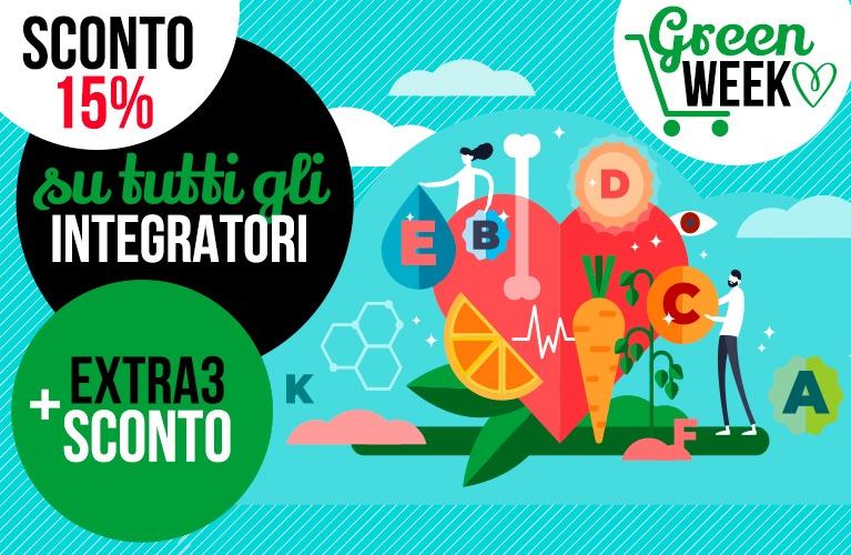 Green week sconto 15% integratori