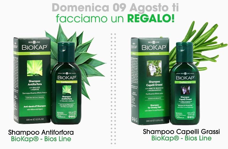omaggio a scelta shampoo biokap