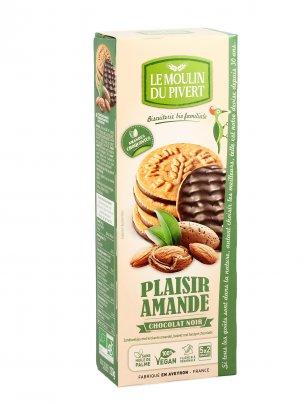 Biscotti alle Mandorle Croccanti Ricoperti di Cioccolato Fondente - Plaisir Amande