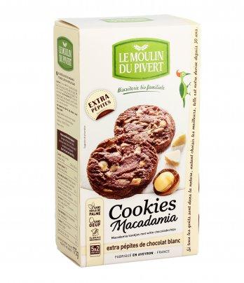 Cookies con Noci Macadamia e Pepite di Cioccolato Bianco Bio