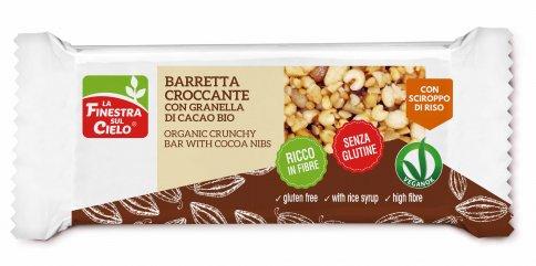 Barretta Croccante con Granella di Cacao - Senza Glutine