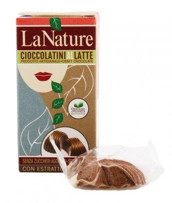 3 Cioccolatini al Latte con Stevia