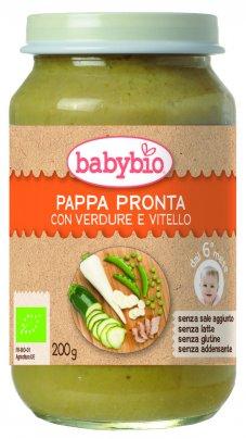 Pappa Pronta con Piselli, Pastinaca, Zucchine e Vitello