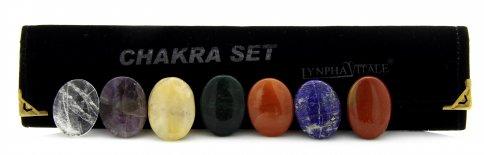 Le Pietre dei Chakra - 7 Dischetti Ovali con Incavo