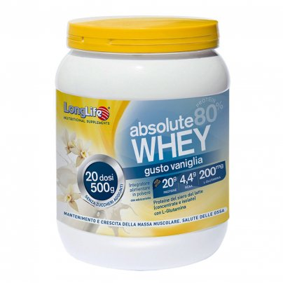 Proteine del Siero di Latte 80% - Absolute Whey gusto Vaniglia