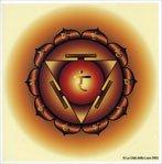 Adesivo Singolo 3° Chakra Chiaro