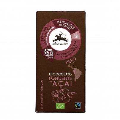 Cioccolato Fondente al 62% con Acai Bio