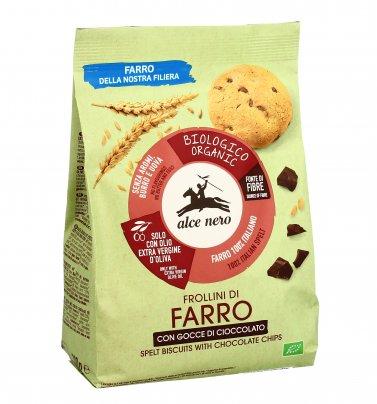 Biscotti Frollini di Farro con Gocce di Cioccolato