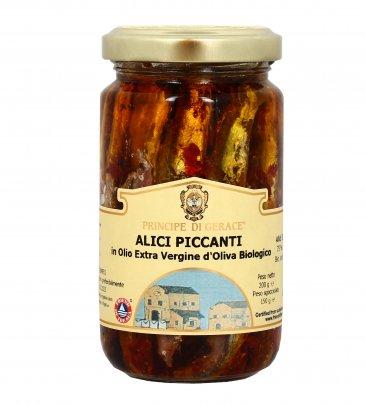 Alici Piccanti in Olio Extra Vergine di Oliva