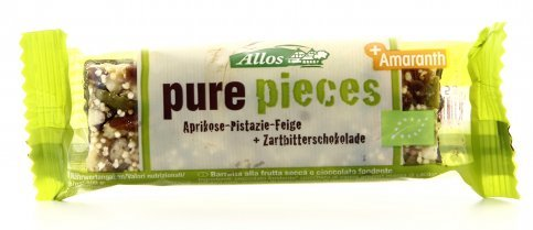 Pure Pieces - Barretta Albicocche, Pistacchi e Fichi
