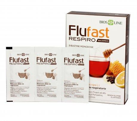 Flufast Respiro per Sintomi Influenzali (Vie Respiratorie) Balsamico