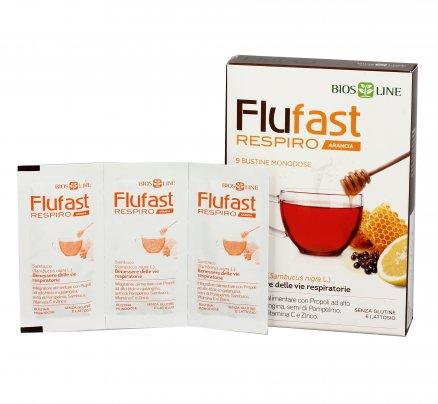 Flufast Respiro gusto Arancia - Allevia i Sintomi Influenzali