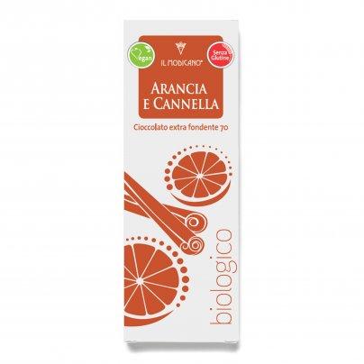 Cioccolato Extra Fondente Bio con Arancia e Cannella