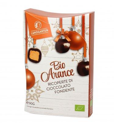 Praline Arancia Bio Ricoperte di Cioccolato Fondente