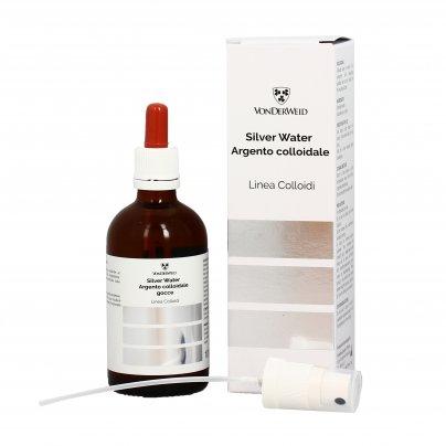 """Argento Colloidale 20 Ppm """"Silver Water"""" - Linea Colloidi 100 ml (con erogatore e contagocce)"""
