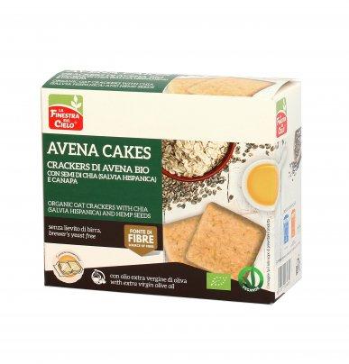 Crackers di Avena Bio con Semi di Chia e Canapa - Avena Cakes