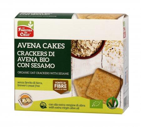 Crackers di Avena Bio Sesamo - Avena Cakes