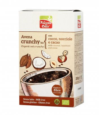 Muesli Avena Crunchy Bio con Cocco, Nocciole e Cacao