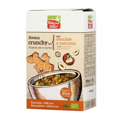 Muesli Avena Crunchy Bio con Nocciole e Curcuma