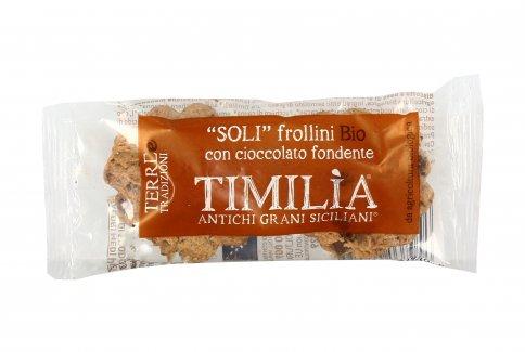 """Frollini """"Soli"""" Bio con Cioccolato Fondente e Timilìa"""