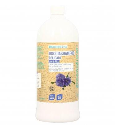 Doccia Shampoo Delicato Lino e Proteine da Riso 1000 ml