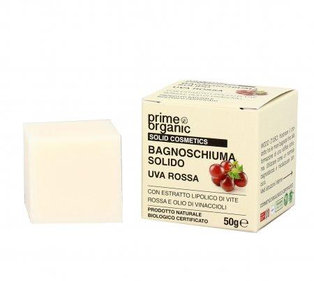 Bagnoschiuma Solido con Uva Rossa