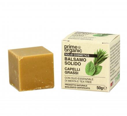 Balsamo Solido per Capelli Grassi con Menta e Tea Tree