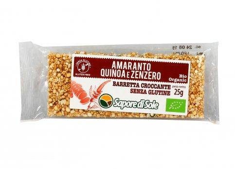 Barretta Croccante con Amaranto, Quinoa e Zenzero Bio