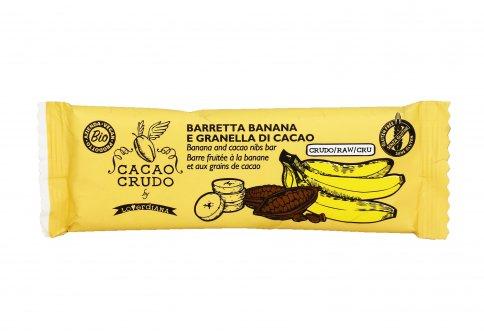 Barretta Cruda con Banana e Granella di Cacao