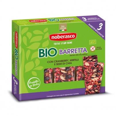 Barretta con Cranberry Mirtilli e Semi di Chia 3x25g