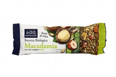 Barretta Macadamia con Rice Crispies Verdi