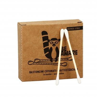"""Cotton Fioc - Bastoncini Cotonati in Bambù """"Be Aware"""""""