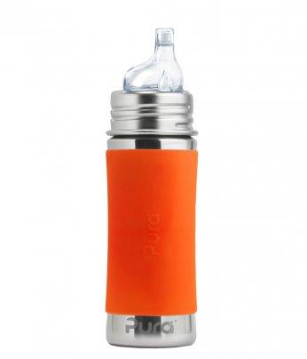 Biberon Completo con Cannuccia 6+ Mesi Arancione