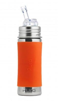 Biberon Completo con Cannuccia 6+ Mesi Arancio