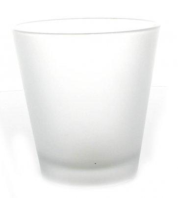 """Bicchiere Portacandela Vetro Satinato """"m"""""""
