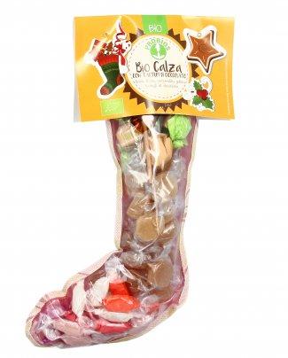 CALZA DI NATALE BIO CON TARTUFI DI CIOCCOLATO E CARAMELLE Senza glutine. Ricca di prodotto dolciari per un Natale super dolce! di Probios