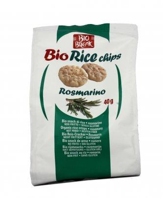 Mini Gallette di Riso al Rosmarino - Bio Rice Chips