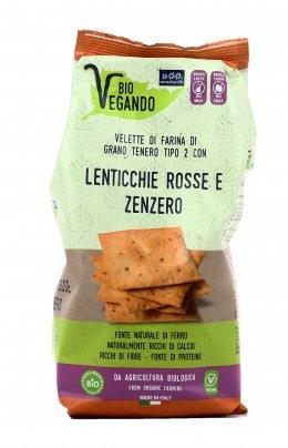 Crackers Velette con Lenticchie Rosse e Zenzero - Bio Vegando