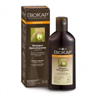Shampoo Ristrutturante Capillare per Capelli Tinti - Biokap Nutricolor