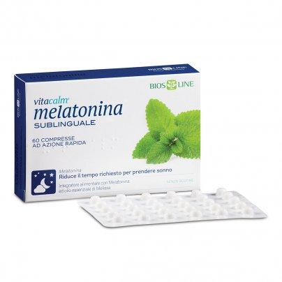 Vitacalm Melatonina Sublinguale - Integratore per il Sonno 60 Compresse (4,2 g)